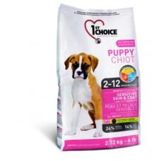 1st Choice Puppy Sensitive Skin & Coat сухой корм с ягненком, рыбой и рисом для здоровья кожи и шерсти щенков
