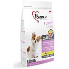 Купить 1st Choice Puppy Small & Toy Breeds Healthy Skin & Coat сухой корм с ягненком и рыбой для щенков мелких и декоративных пород
