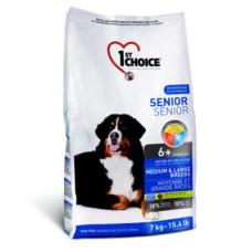 1st Choice Senior Medium & Large сухой корм с курицей для пожилых собак средних и крупных пород