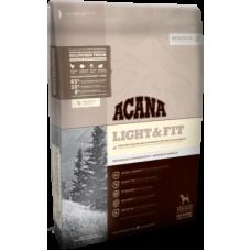 Купить Acana Heritage Light & Fit беззерновой корм с цыпленком для взрослых собак всех пород низкокаллорийный