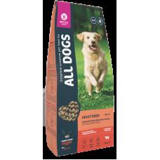 All Dogs Adult Dogs полнорационный сбалансированный сухой корм с говядиной и овощами, для собак всех пород и возрастов