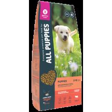 All Puppies полнорационный сбалансированный сухой корм с говядиной и овощами, для щенков всех пород и возрастов