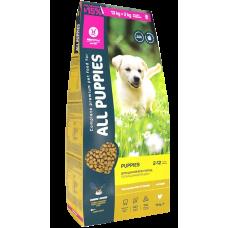 Купить All Puppies полнорационный сбалансированный сухой корм с курицей для щенков всех пород и возрастов