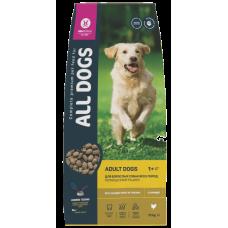 Купить All Dogs полнорационный сбалансированный сухой корм с курицей для собак всех пород и возрастов