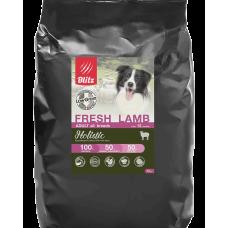 Blitz Holistic Adult All Breeds Lamb низкозерновой сухой корм для взрослых собак всех пород со свежим ягненком
