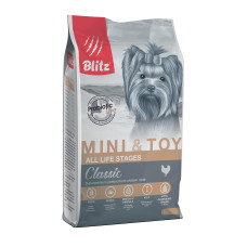 Blitz Mini & Toy Breeds Adult для взрослых собак мелких и миниатюрных пород с курицей