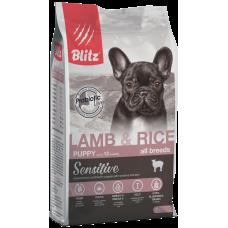 Blitz Lamb & Rice All Breeds Puppy для щенков всех пород с чувствительным пищеварением, с ягненком и рисом