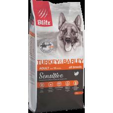 Blitz Turkey & Barley All Breeds Adult для собак всех пород с чувствительным пищеварением, с индейкой
