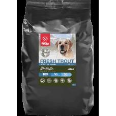 Blitz Holistic Fresh Trout Adult All Breeds низкозерновой сухой корм для взрослых собак всех пород с свежей форелью