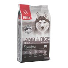 Blitz Lamb & Rice All Breeds Adult гипоаллергенный корм для взрослых собак всех пород, с ягненком и рисом