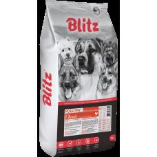 Купить Blitz Classic Poultry Adult Dog All Breeds сухой корм с курицей и индейкой для взрослых собак всех пород