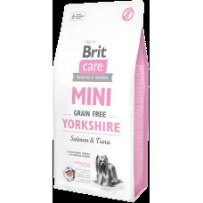 Купить Brit Care Mini Grain Free Yorkshire Salmon & Tuna беззерновой корм c лососем и тунцом для йоркширских терьеров