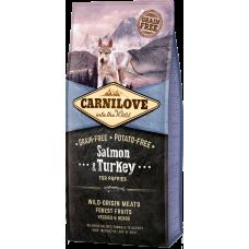 Купить Carnilove Salmon & Turkey for Puppies беззерновой корм для щенков всех пород с лососем и индейкой
