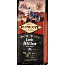 Купить Carnilove Lamb & Wild Boar for Adult Dogs беззерновой корм с ягненком и диким кабаном для взрослых собак всех пород