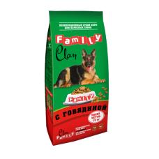 Clan Family сухой корм с говядиной для взрослых собак