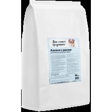 Купить Для самых преданных сухой корм с лососем и рисом для взрослых собак всех пород
