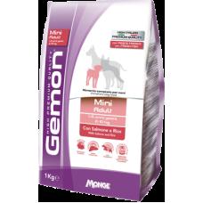 Gemon Dog Adult Mini Salmon сухой корм для взрослых собак мелких пород с лососем и рисом