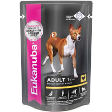 Купить Eukanuba Adult Dog with Chicken влажный корм с курицей в соусе для взрослых собак