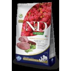 N&D Quinoa Weight Management Lamb Adult Ягненок, киноа, брокколи и спаржа. Контроль Веса. Полнорационный беззерновой сухой корм для взрослых собак всех пород