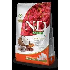 N&D Quinoa Skin&coat Herring Adult сельдь, киноа, кокос и куркума. Здоровье кожи и шерсти. Полнорационный беззерновой сухой корм для взрослых собак всех пород