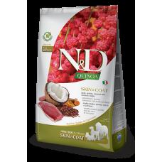 N&D Quinoa Skin&Coat Duck Adult Утка, киноа, кокос и куркума. Здоровье кожи и шерсти. Полнорационный беззерновой сухой корм для взрослых собак всех пород