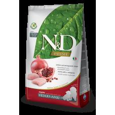 Купить N&D Prime Chicken and Pomegranate Recipe Puppy Medium & Maxi полнорационный беззерновой сухой корм с курицей и гранатом для щенков средних и крупных пород, беременных и кормящих собак
