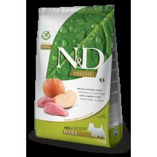 N&D Prime Wild Boar and Apple Recipe Adult Mini полнорационный беззерновой сухой корм с мясом кабана и яблоком для взрослых собак мелких пород