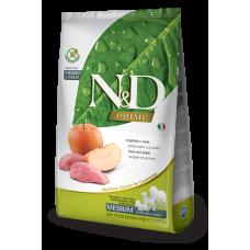 N&D Prime Wild Boar and Apple Recipe Adult Medium & Maxi полнорационный беззерновой сухой корм с мясом кабана и яблоком для взрослых собак средних и крупных пород
