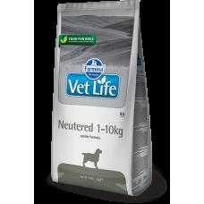Farmina Vet Life Neutered 1-10kg полнорационное и сбалансированное питание для взрослых кастрированных или стерилизованных собак весом до 10 кг