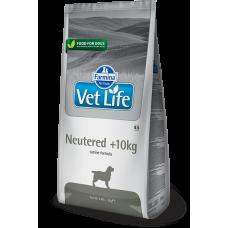 Farmina Vet Life Neutered +10kg полнорационное и сбалансированное питание для взрослых кастрированных или стерилизованных собак весом более 10кг