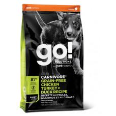 GO! Solutions CARNIVORE GF беззерновой корм для щенков всех пород - 4 вида мяса (индейка, курица, лосось, утка)