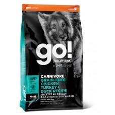 GO! Solutions CARNIVORE GF беззерновой корм для взрослых собак всех пород - 4 вида мяса (индейка, курица, лосось, утка)