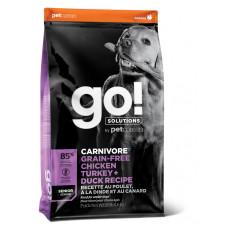 GO! Solutions CARNIVORE GF беззерновой корм для пожилых собак всех пород - 4 вида мяса (индейка, курица, лосось, утка)