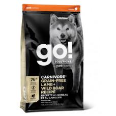 GO! Solutions CARNIVORE GF беззерновой корм для собак всех возрастов c ягненком и мясом дикого кабана