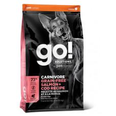 GO! Solutions CARNIVORE GF беззерновой корм для взрослых собак всех возрастов с лососем и треской