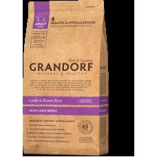 Grandorf Lamb & Brown Rice Adult Large Breeds сухой корм класса холистик с ягненком и бурым рисом для взрослых собак крупных пород