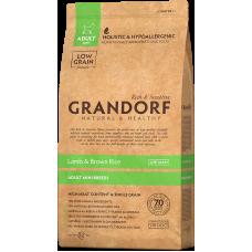 Купить Grandorf Lamb & Brown Rice Adult Mini Breeds сухой корм класса холистик с ягненком и рисом для собак мелких пород от 1 года