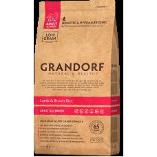 Купить Grandorf Lamb & Brown Rice Adult All Breeds сухой корм класса холистик с ягненком и рисом для собак средних пород