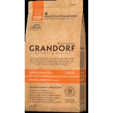 Grandorf Lamb & Brown Rice Junior All Breeds сухой корм класса холистик с ягненком и рисом для щенков всех пород старше 4 месяцев