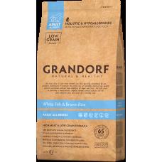 Купить Grandorf White Fish & Brown Rice Adult All Breeds сухой корм класса холистик с белой рыбой и рисом для взрослых собак всех пород от 1 года