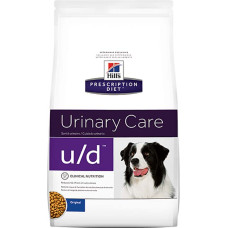 Hill's Prescription Diet Canine u/d диетический рацион для собак растворяет и снижает образование оксалатов, уратов и цистинов