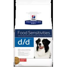Купить Hill's Prescription Diet Canine d/d Salmon and Rice диетический рацион для собак с лососем и рисом при кожных реакциях и прочих проявлениях аллергии на пищу