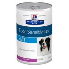 Hill's Prescription Diet d/d Canine Duck влажная диета для собак с уткой при кожных реакциях и рвоте/диарее в случае аллергии