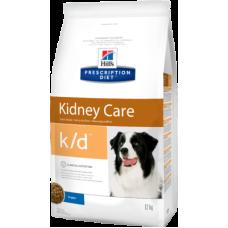 Hill's Prescription Diet k/d Canine Renal Health диетический рацион для собак при заболеваниях почек