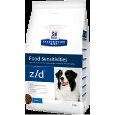 Hill's Prescription Diet Canine z/d ULTRA Allergen-Free диетический рацион для собак при аллергических реакциях на пищу