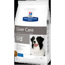 Hill's Prescription Diet Canine l/d диетический рацион для собак при заболеванииях печени