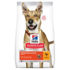 Hill's Science Plan Canine Adult Performance Chicken для взрослых активных и рабочих собак всех пород высококаллорийный с курицей