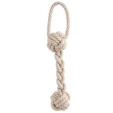 """Купить Игрушка для собак """"Веревка - плетеная гантель с петлей"""" (светится в темноте), 300мм"""