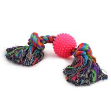 "0057XJ Игрушка для собак ""Веревка, 2 узла и мяч"", d65/310 мм"