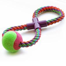 """Игрушка для собак """"Веревка-восьмёрка, мяч"""", 295мм"""